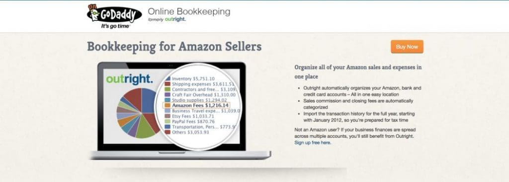 godaddy bookkeeping amazon integration