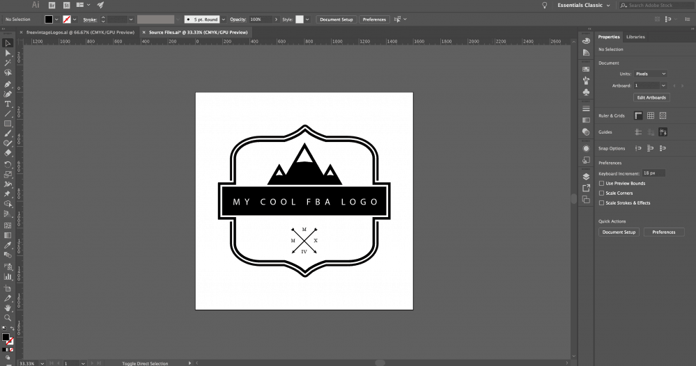 make an fba logo illustrator