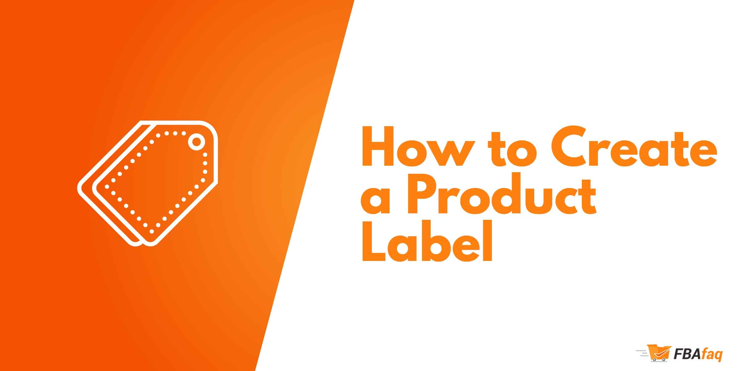 Create a product label