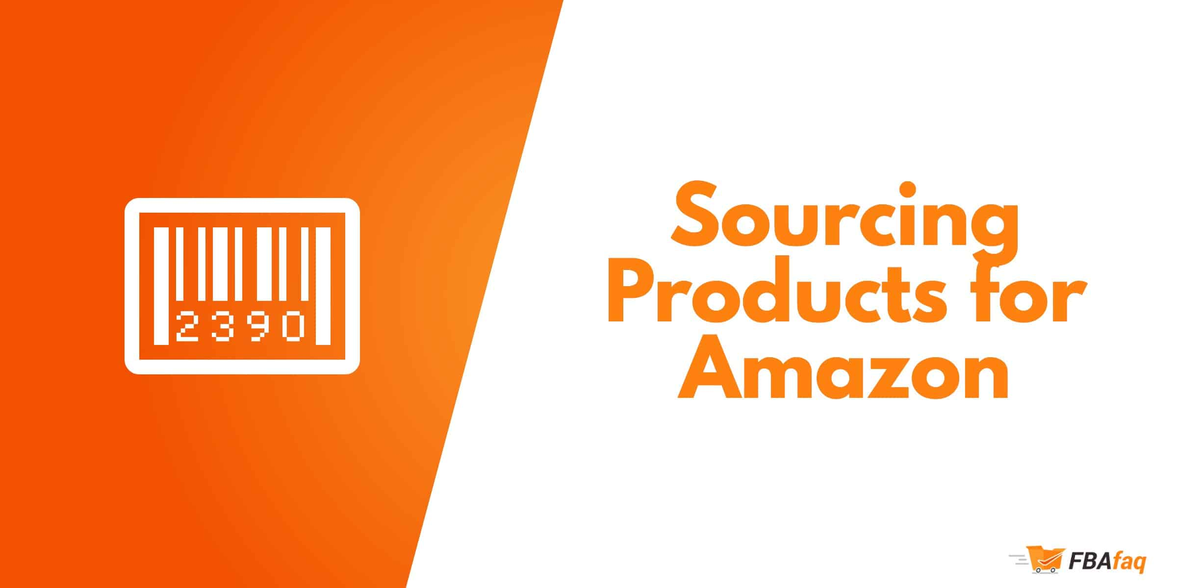 Sourcing products amazon