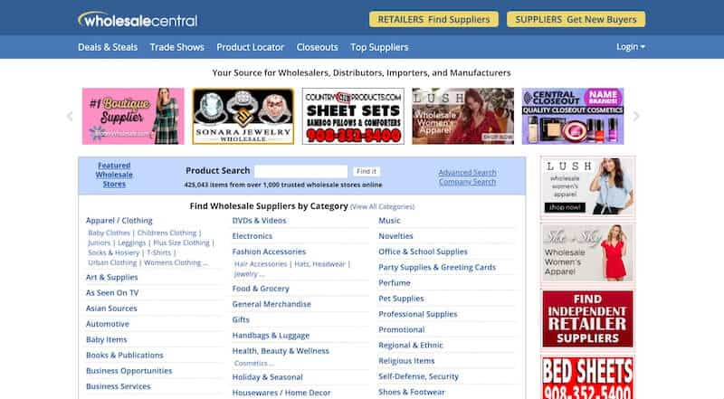 13 wholesalecentral - 15 Best Dropshipping Companies / Suppliers