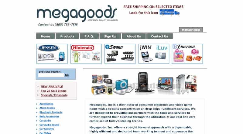 4 megagoods - 15 Best Dropshipping Companies / Suppliers