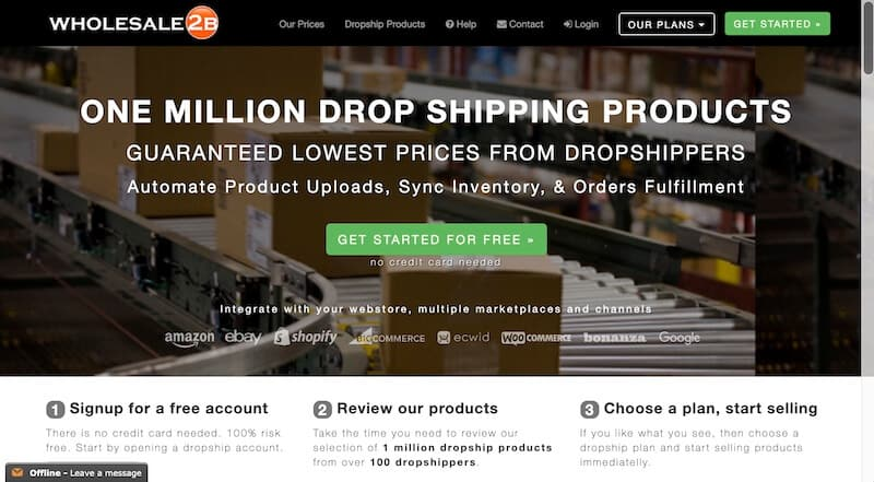 8 wholesale2b - 15 Best Dropshipping Companies / Suppliers